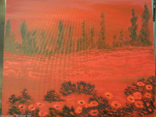Artwork >> Eliane Vieil >> Field of Poppies
