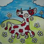Marie C. Cudraz - 10-2006 - AT THE GRASS ROOTS - POP-ART - COW