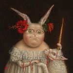 Irena Aizen - Portrait with Unicorn. Fine Art Prints