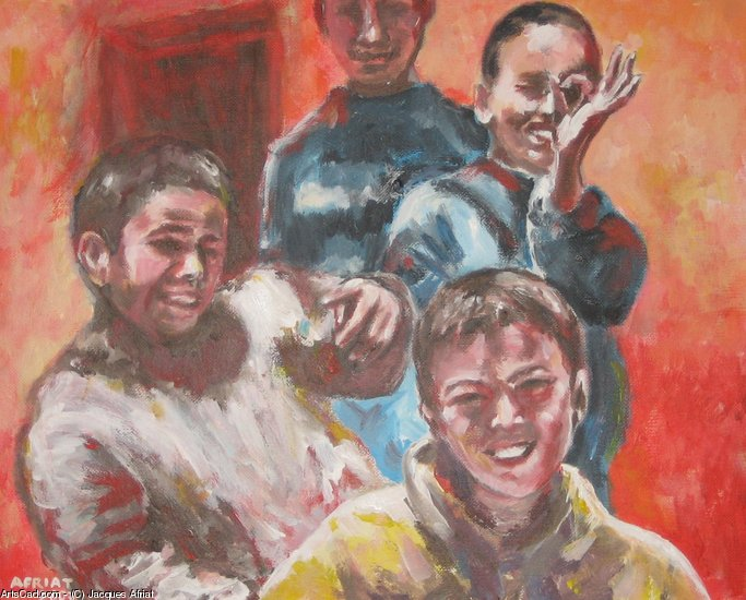 Artwork >> Jacques Afriat >> boys berber