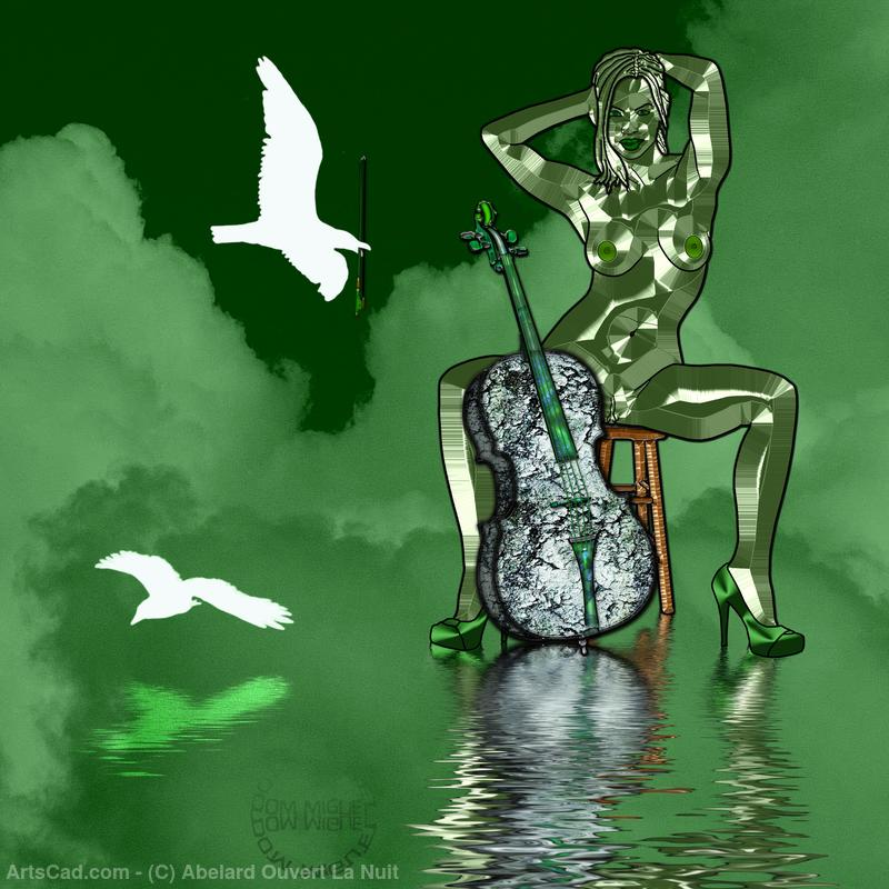 Artwork >> Abelard Ouvert La Nuit >> Green please