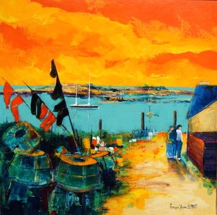 Artwork >> Francois-Xavier Lepont >> END OF EVENING ON L'ILE CHAUSEY