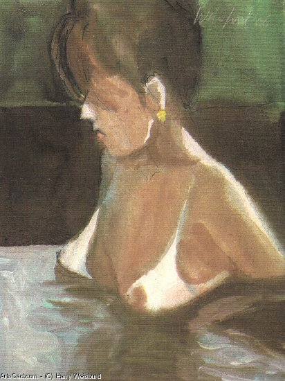 Artwork >> Harry Weisburd >> HOT TUB BABE