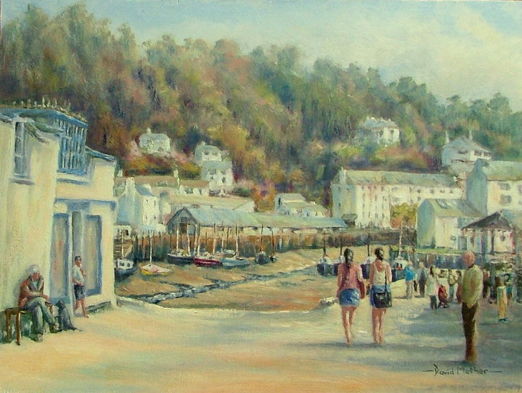 Artwork >> David Mather >> View of Polperro