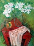 Ahmedov Zakir - . . white flower 2016year40x30cmOriginal painting oil on canvas 2500$