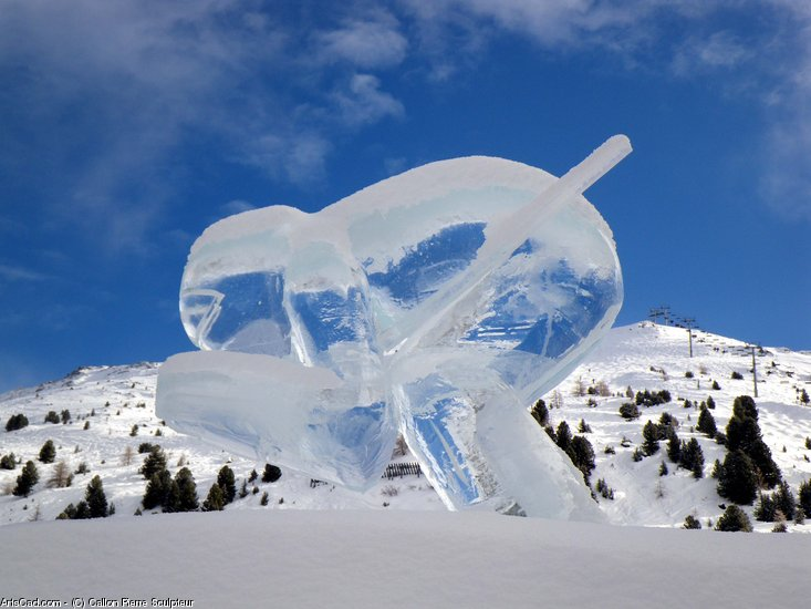 Artwork >> Callon Pierre Sculpteur >> skier kl