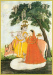 Classical Indian Art Gallery - RADHA - KRISHNA (Kangra Miniature)