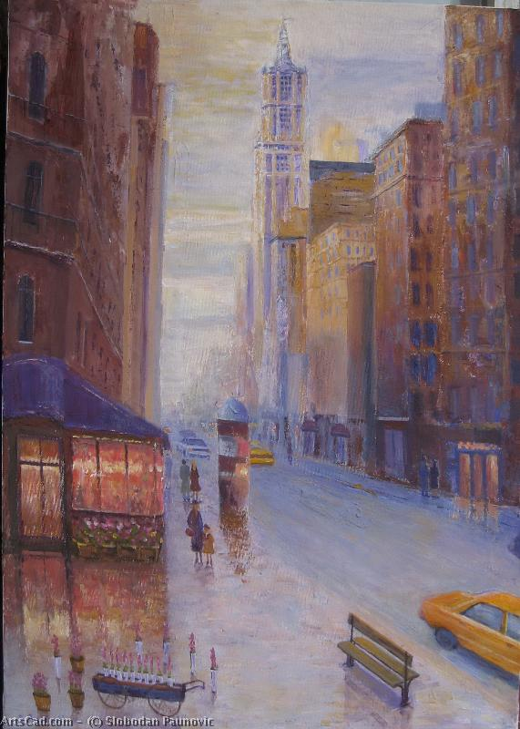 Artwork >> Slobodan Paunovic >> On Broadway