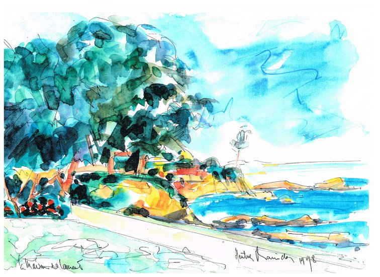 Artwork >> Heritier-Marrida >> CORSICA IN WATERCOLOR