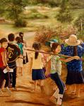 Marie-Claire Houmeau - On the way to the fields - Cambodia