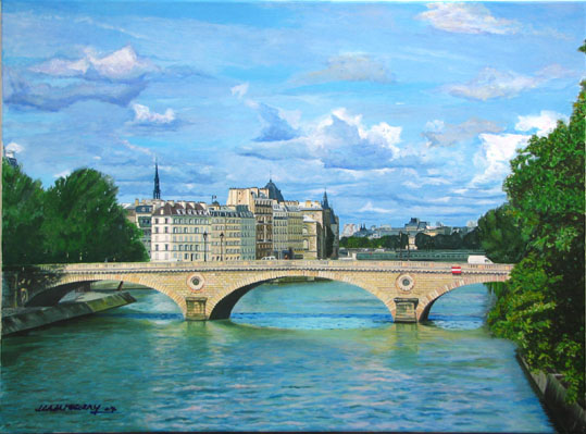 Artwork >> Jean-Louis Barthelemy >> The paris - the bridge louis philippe
