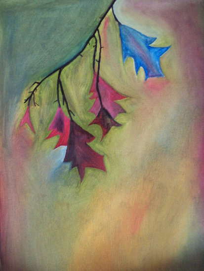 Artwork >> Pradeep S Art >> Rainbow Leaves