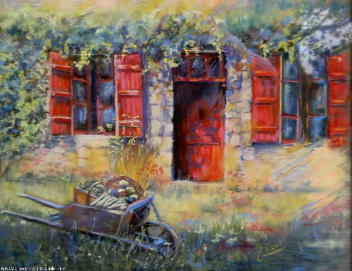 Artwork >> Michele Frot >> shutters red