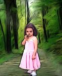 David Devlins Art - Little Girl