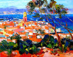 Alain Demarte - saint tropez seen from the citadel