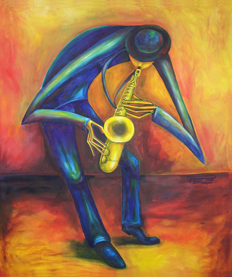 Artwork >> Virginia Palomeque >> The Saxophonist