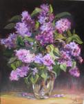Francoise Galland - Vase of lilac