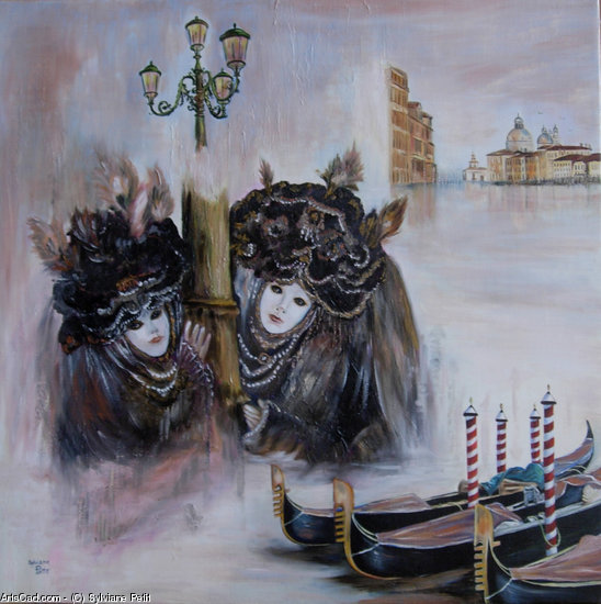 Artwork >> Sylviane Petit >> Venice up and  its  carnival