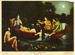 Classical Indian Art Gallery - OLEOGRAPH PRINT by VASUDEO.  H. PANDYA