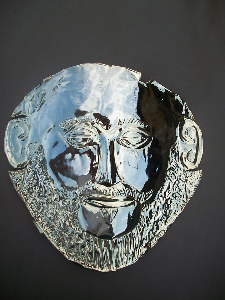 Artwork >> Odyssefs Ilias >> The golden 24κ mask of King Agamemnon