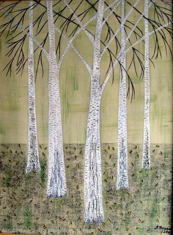 Artwork >> Malgorzata Drozdz >> The birch trees