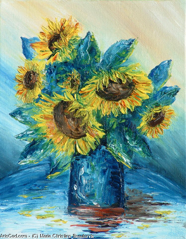 Artwork >> Marie Christine Beaulande >> The sunflowers