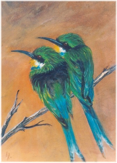 Artwork >> Rita Palm >> Swallow Tailed Bee-Eaters