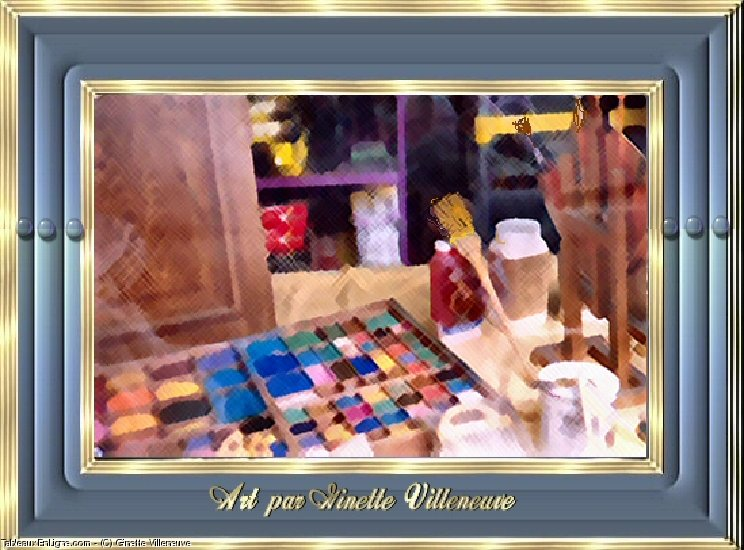Artwork >> Ginette Villeneuve >> Showcase shop equipment d'artiste tourcoing , La france