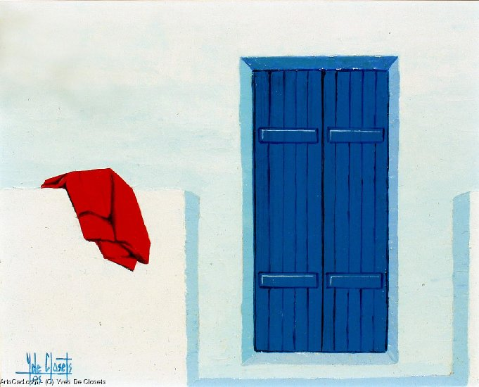 Artwork >> Yves De Closets >> the blue shutters