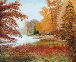 Jean-Claude Selles Brotons - Autumn On out the  lake in