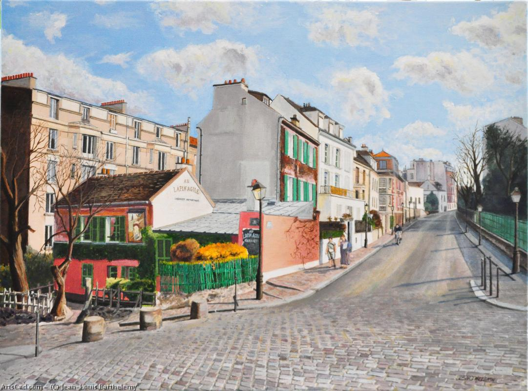 Artwork >> Jean-Louis Barthelemy >> The paris - Montmartre , the lapin agile