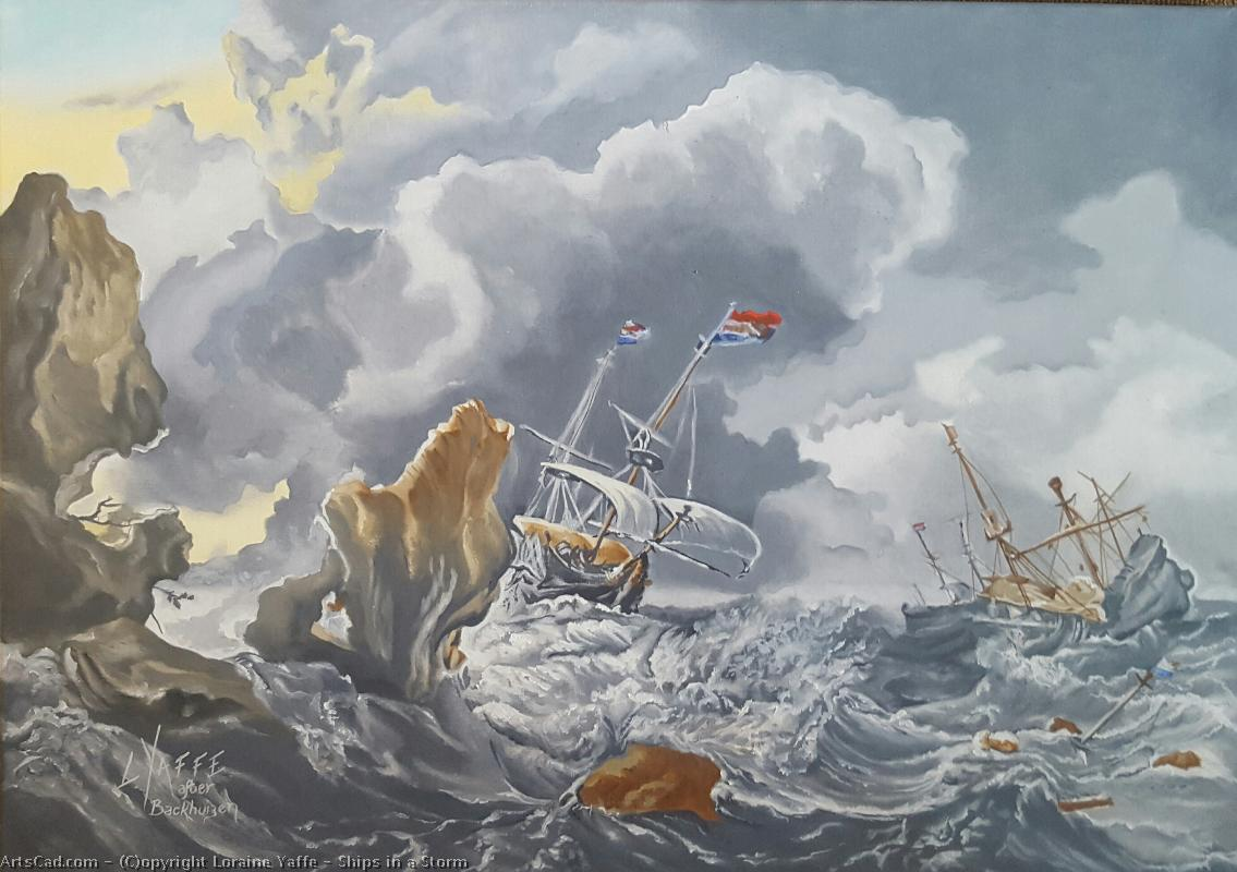 Artwork >> Loraine Yaffe >> Ships in a Storm