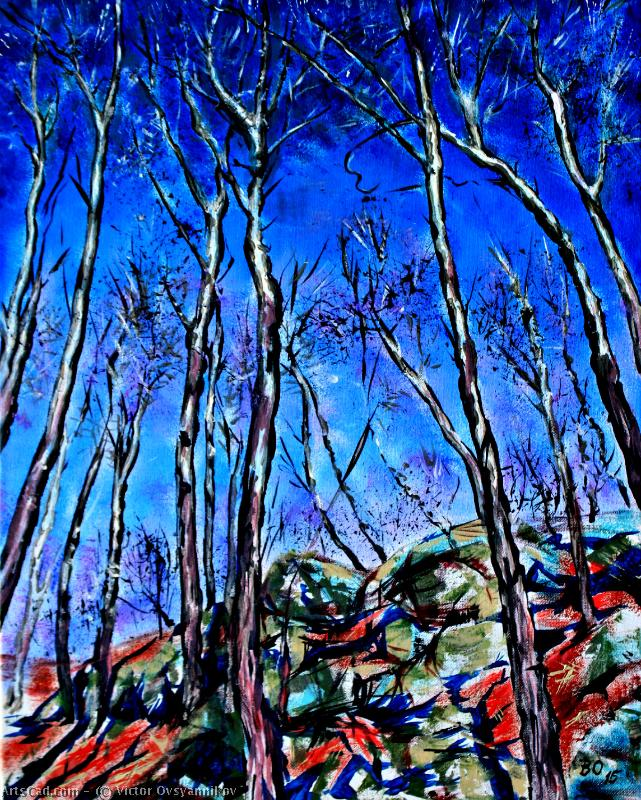 Artwork >> Victor Ovsyannikov >> Trees and rocks
