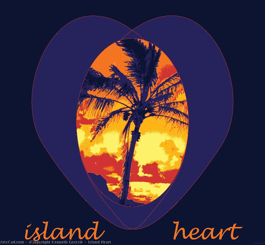 Art by Kenneth Grzesik : Kenneth Grzesik - Island Heart
