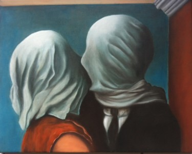 Artwork >> France Mondello >> The lovers from magritte - copy of Master