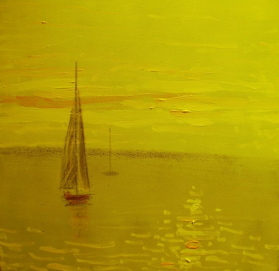 Artwork >> Carlos Roces >> Sailing on yellow