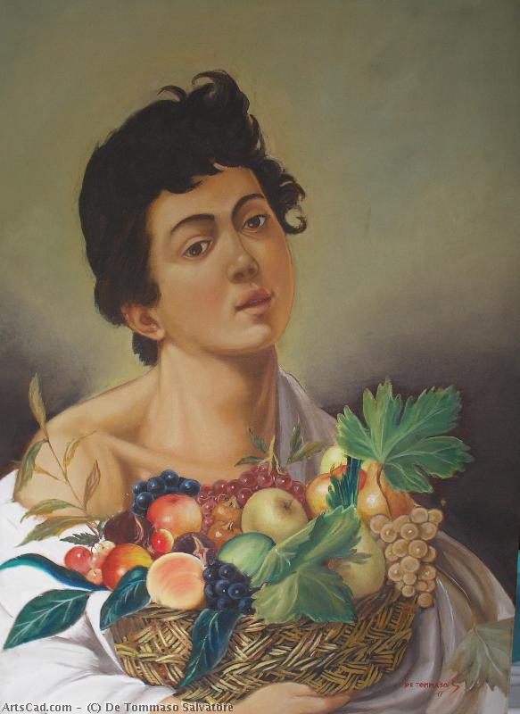 Artwork >> De Tommaso Salvatore >> Boy with basket of fruit